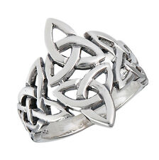 New Sterling Silver Celtic Trinity Knot Ring - Sizes 7-12