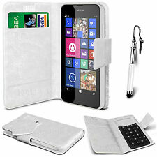 White Leather Suction Wallet Flip Mobile Phone Case For Various Nokia Sets