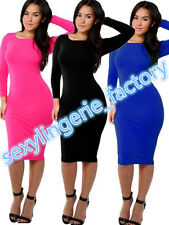 Womens Long Sleeves Bodycon Cocktail Celeb Inspired Prom Party Sheath Dresses