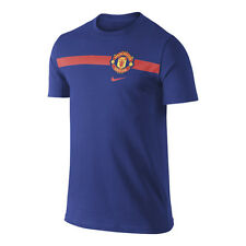 Nike Manchester United 2014-2015 Poly Core Bagde Soccer Shirt  Brand New Blue