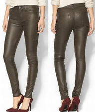 $198 NWT 7 SEVEN FOR ALL MANKIND JEANS THE SEAMED SKINNY CRACKLE MINK 25, 26, 31