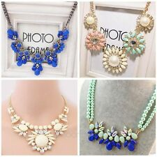 Elegant Women Choker Chunky Statement Bib Collar Necklace Pendant Chain Collane