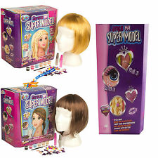 Style My Super Model Dolls Hair Styling Head Hairdressing Make Up Kit Set Toy