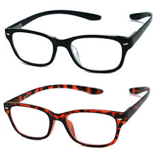 Man Woman Plastic Frame Hang Neck Spring Temple Reading Glasses - RE11 Two Color