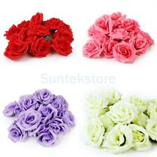 """20 x Roses Artificial Silk Flower Heads for Clips DIY Wedding Party Decor 3.1"""""""
