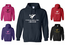 My Horse Only Spooks at 2 Things... Funny Adult Horse Hoody / Hoodie  S - XXL