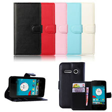 Leather Wallet Pouch Flip Case Cover For Vodafone Smart 4 Mini New GFY