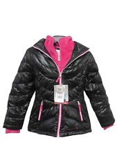 Free Country Girl's Power Down Faux Fur Hooded Jacket NWT