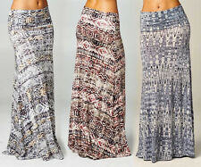 BOHEMIAN Jersey TRIBAL Gypsy BOHO Long MAXI SKIRT Hippie Festival Beach S M L XL
