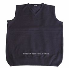 Relco Tank Top - Navy Blue -Classic 60s 70s Mod Skinhead Northern Soul Indie
