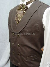 Frontier Classics Old West BROWN double breasted Cowboy Frontier men's vest S-3X