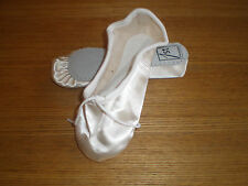 NEW- IVORY SATIN BALLET SHOES - FULL SUEDE SOLE - INFANT TO ADULT SIZES