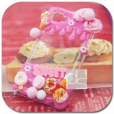 Kawaii Sweets & Food Pink Deco Cute Unique Bling Hard Skin Case Cover For iPhone