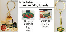 Rumely tractor fobs, various designs & keychain options
