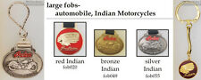 Indian motorcycle company fobs, various designs & keychain options