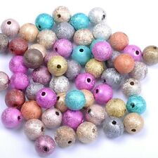 Lots Mixed Stardust Acrylic Round Ball Charms Spacer Beads 4MM 6MM 8MM 10MM 12MM