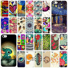 New Scenery Colorful Paint Pattern Phone Hard Cover Case For iPhone 5 5S 5C 4 4S