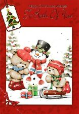 cute TO / FOR BOTH OF YOU happy christmas card - 10 x cards to choose from!