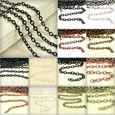 Fashion 0.9x3/3.7x2.55/6.85x5mm 2/4M Iron Cable Unfinished Chain/Links Wholesale