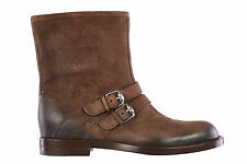 GUCCI MEN'S SUEDE ANKLE BOOTS NEW CAMDEN BROWN  A03