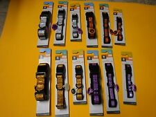 New ! Reflective Dog Collar Adjustable S M L fits most Breeds Purple or Orange