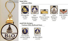 Ohio Railroad fobs, various designs & keychain options