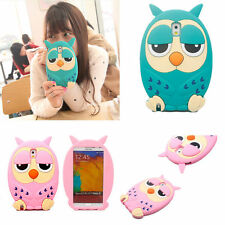 3D Cute Lovely Cartoon Animal Owl Soft Silicon Gel Case Cover For iPhone Samsung