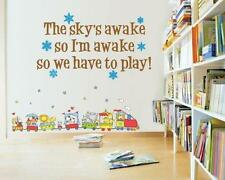 Wall Decal Frozen Themed The Sky's Awake So I'm Awake So We Have To Play Girls