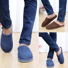 1Pair New Men Anti-slip Shoes Soft Warm Cotton House Indoor Slippers GFY