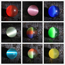 Unique 40mm Asia Quartz Mexican Opal Cat Eye Sphere Orb Crystal Ball Gemstone