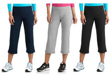 New Danskin Now Women's Fitted Core Capri Pant #DL32B118 Blk Nvy Gry S M L XL 2X