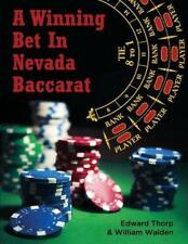 NEW A Winning Bet in Nevada Baccarat by Edward Thorp Perfect Book (English) Free