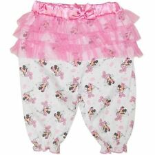 Licensed Minnie Mouse Baby Girl Baby Pink & White Leggings With Satin & Ruffles