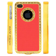 Gem Crystal Rhinestone Hot Pink Shimmer Plastic Case For Apple iPhone 5 5S 5G