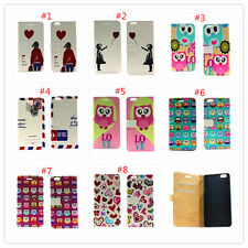 Cartoon Flower slot wallet Leather stand flip cover case for Sony Xperia M2 S50H