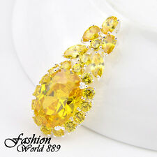 Hot Selling Lady Jewelry Amethyst,Garnet,Yellow Citrine Gemstone Silver Pendant