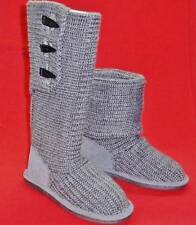 Women's BEARPAW KNIT TALL or Short 658W Gray Fashion Casual Winter Boots NEW