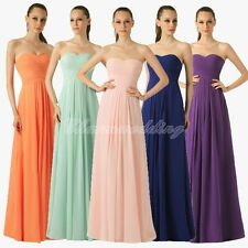 Long Bridesmaid Dress Chiffon Wedding Evening Prom Formal Party Ball Gown 4-22