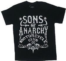 SONS OF ANARCHY SOA BOLD MOTOR CLUB RIFLE SICKLE BIKER REAPER GOTH T SHIRT S-3XL