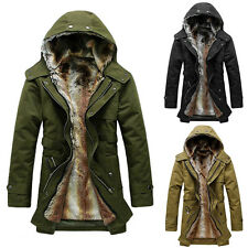 New Plush removable liner Warm Mens hooded windbreaker jacket Coats Parka WY0021