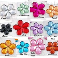 100 to 1,000 Flower Rhinestone Bling Gem 15mm