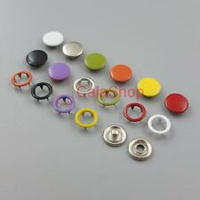"""Open Ring No Sew Snaps Fastener sattaching stud Mixed 3/8"""" 20 50 100 200 Sets"""