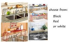 Wrought iron over the sink expandable kitchen storage shelf 2 colors to choose