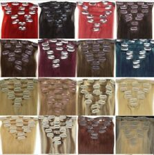 15-22''10 Colors Choose Beauty Clip In Human Hair Extensions Remy Free Shipping