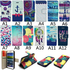 For Apple iPhone Samsung Magnetic Flip PU Leather Card Slots Stand Cover Case