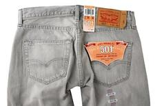NEW LEVI'S 501 MEN'S ORIGINAL FIT STRAIGHT LEG JEANS BUTTON FLY GRAY 501-1730