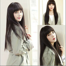 Fashion Womens Full Long Straight Nature Hair Wigs Cosplay Hair Wigs Anime Wigs