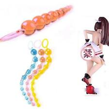 Adult Sexy Body Toy Silicone Anal Butt Beads Stimulator String Chain Orgasm Plug