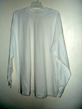 NEW BIG SIZE INTEGRITEES HEAVY COTTON LONG SLEEVE T SHIRT 3X 4X 5X 6X white or