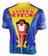 Cycles Meteore Cycling Jersey Men's Short Sleeve 83 Sportswear with DeFeet Socks